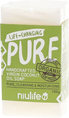 NIULIFE Certified Organic Virgin Coconut Oil Soap 100g