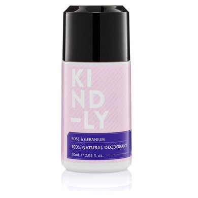 KIND-LY 100% Natural Deodorant Rose & Geranium (60ml)