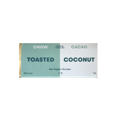 Chow Cacao Raw Organic Toasted Coconut Chocolate (40g)