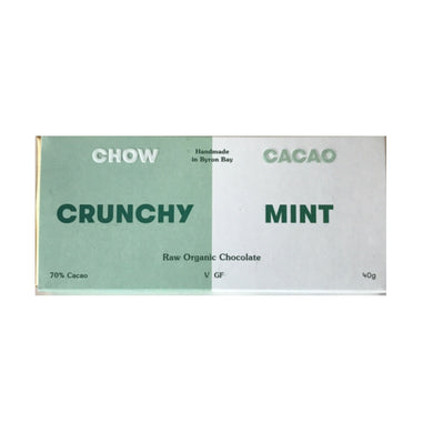 Chow Cacao Crunchy Mint Raw Organic Chocolate (40g)