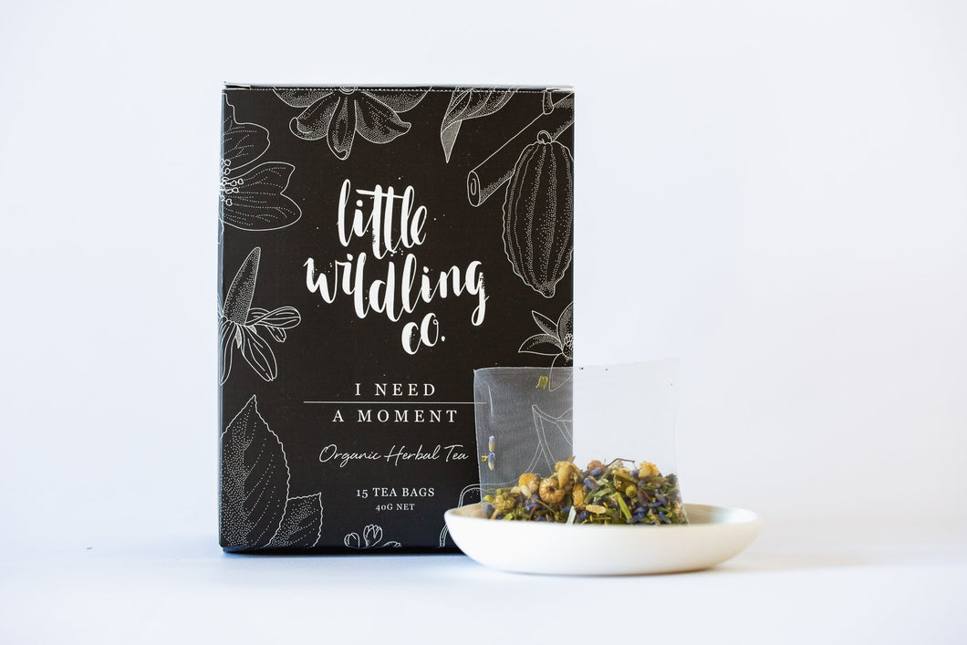 Little Wildling Co 'I Need A Moment' Organic Herbal Tea Bags (15)
