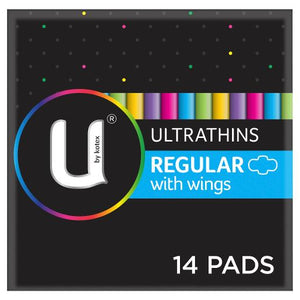 U By Kotex Regular Ultrathin Pads with Wings (14)