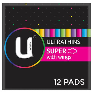 U By Kotex Super Ultrathin Pads with Wings (12)