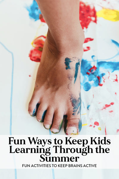 """Graphic for """"Fun ways to keep kids learning through the summer"""""""
