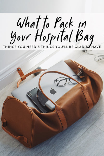 What to pack in your hospital bag graphic