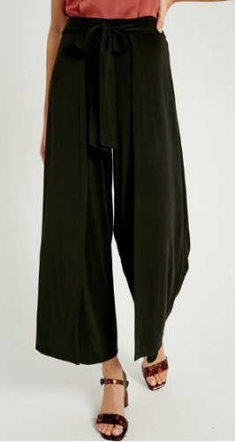 Self-Tie Belted Pants