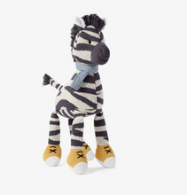 "Load image into Gallery viewer, 15"" Zeke Zebra Baby Knit Doll"