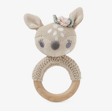 Load image into Gallery viewer, Fawn Knit Baby Ring Rattle