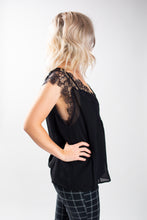 Load image into Gallery viewer, Flowy Lacy Chiffon Top with Tank Top Lining