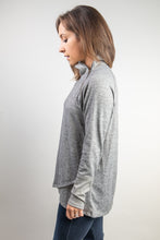 Load image into Gallery viewer, Crossover Hem Pullover with Zipper