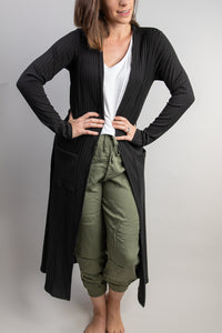 Open Cardigan Sweater Duster Jacket