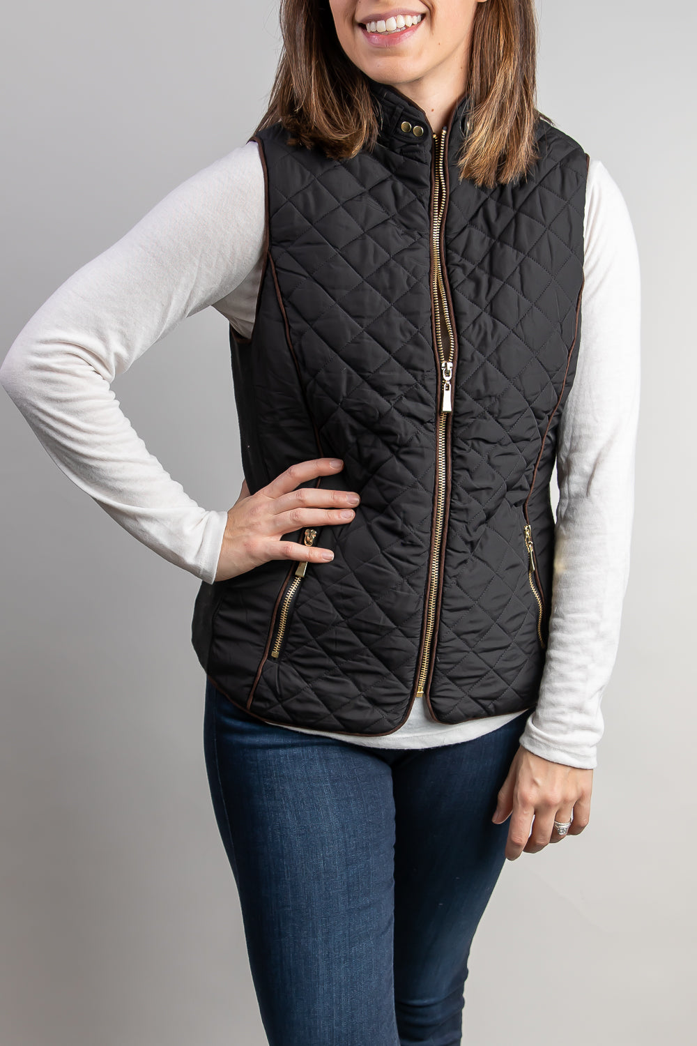 Yes Queen Quilted Vest with Sherpa Lining
