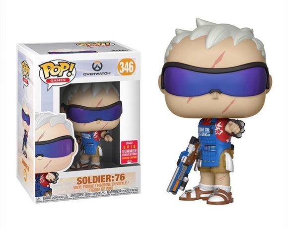 Funko Pop! Games: Overwatch - Soldier: 76 #346 Summer Convention 2018 Exclusive