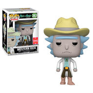 Funko Pop! Animation: Rick and Morty- Western Rick #363 Summer Convention 2018 Exclusive