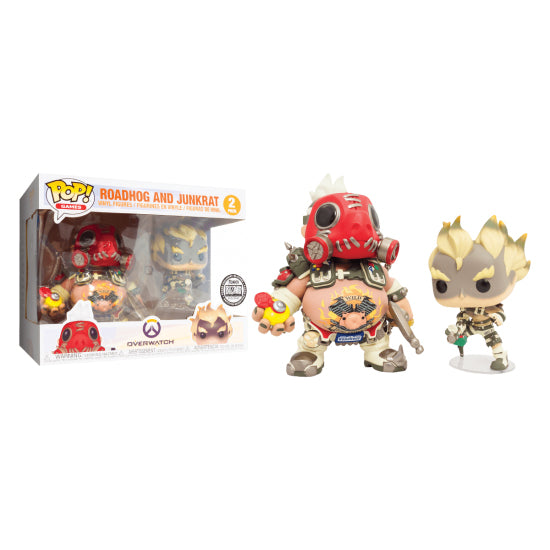Funko Pop! Games: Overwatch - Roadhog And Junkrat 2 Pack Blizzard Exclusive