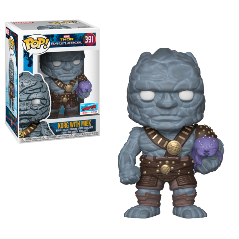 Funko Pop! Marvel: Thor Ragnarok - Korg With Miek #391 NYCC 2018 Exclusive