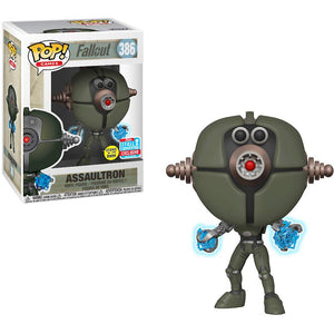 Funko Pop! Games: Fallout - Assaultron #386 Glow In The Dark 2018 Fall Convention Exclusive