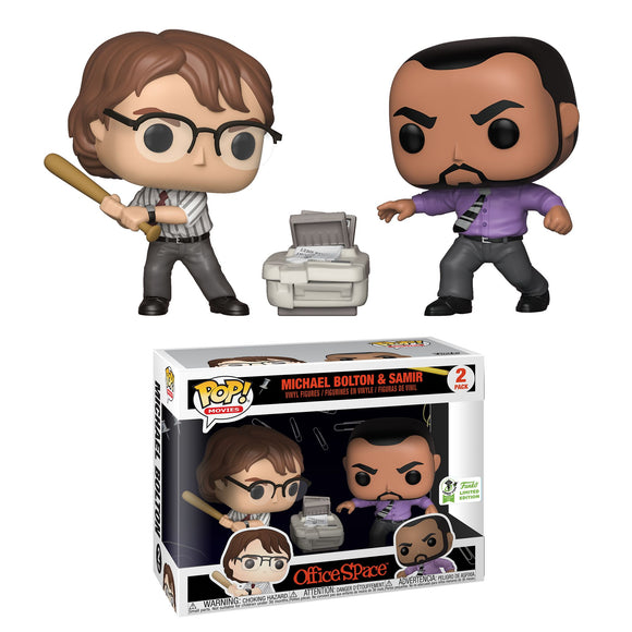 Funko Pop! Movies: Office Space - Michael Bolton & Samir 2 Pack ECCC 2019 Limited Edition