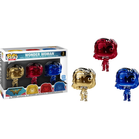 Funko Pop! Heroes: Wonder Woman Chrome 3 Pack Exclusive