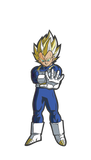 FiGPiN Dragon Ball Z: Super Saiyan Vegeta - Collectible Pin with Premium Display Case (#25)