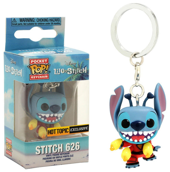 Funko Lilo & Stitch Pocket POP! Disney Stitch 626 Hot Topic Exclusive Keychain