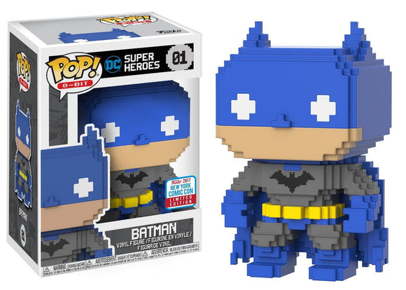 Funko Pop! 8-Bit: DC Super Heroes - Batman #01 NYCC 2017 Exclusive