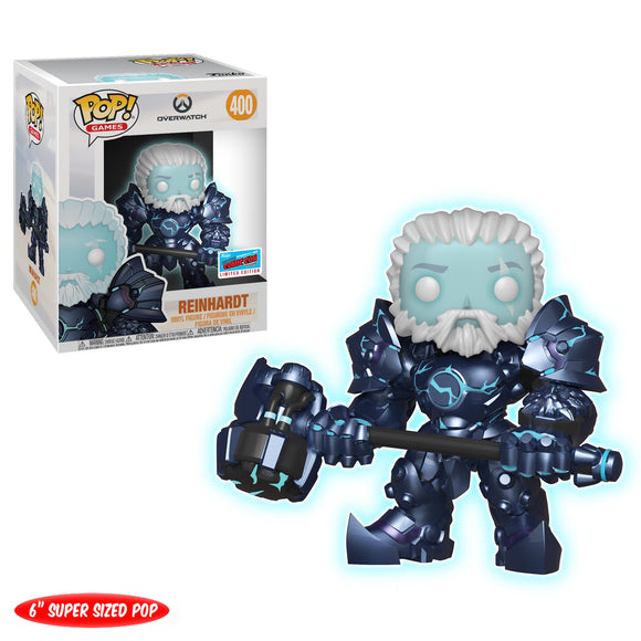Funko Pop! Games: Overwatch - Reinhardt #400 Glow In The Dark NYCC 2018 Exclusive