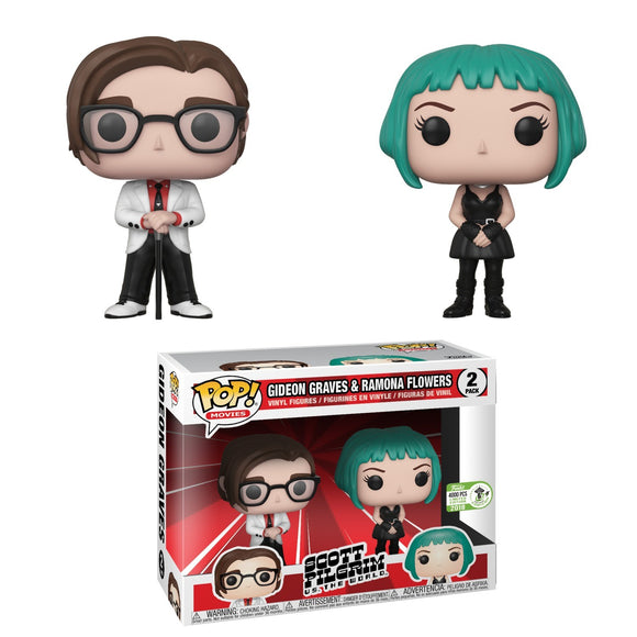 Funko Pop! Movies: Scott Pilgrim vs. the World - Gideon Graves & Ramona Flower 2 Pack LE 4000 PCS ECCC 2018 Exclusive