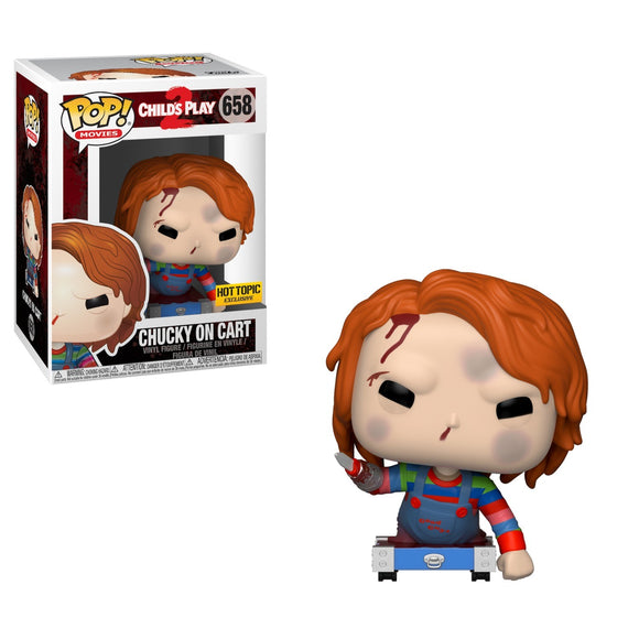 Funko Pop! Movies: Child's Play 2 - Chucky on Cart #658 Hot Topic Exclusive