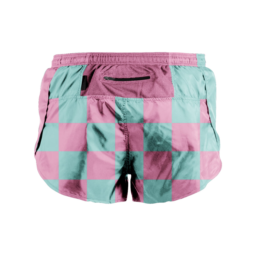 RUN Goodr Ternet Teal/Pink Race Shorts