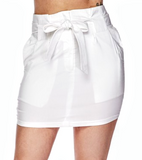 Tie Front Mini Skirt