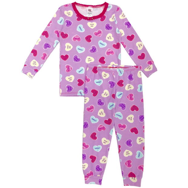 Lavendar Sweetheart Full-Length Pajamas