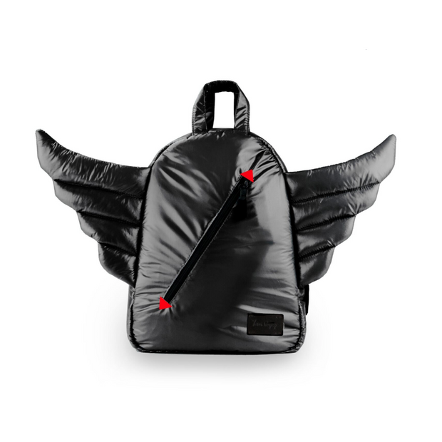 Black Wings Mini Backpack