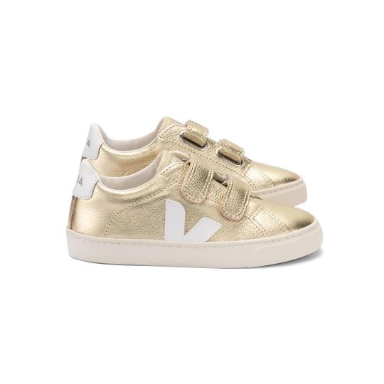 Small Esplar Leather Gold Sneakers