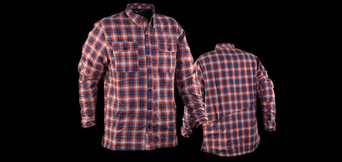 Red/blue plaid NSMB edition Race Face Loam Ranger Flannel Jacket