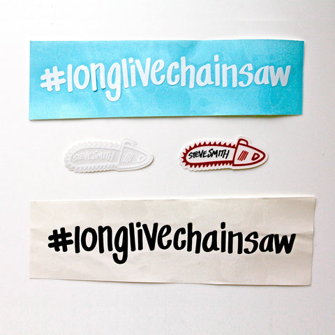 Stevie Smith #longlivechainsaw Sticker Pack