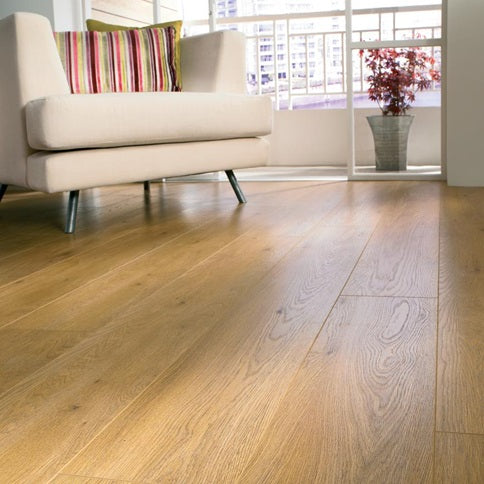 Light Oak Laminate Flooring 2.22m² Pack