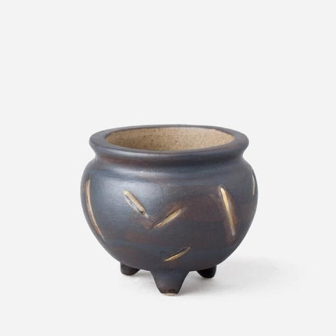 Mini Handmade Ceramic Succulent Pot with Drainage Hole -- Shang