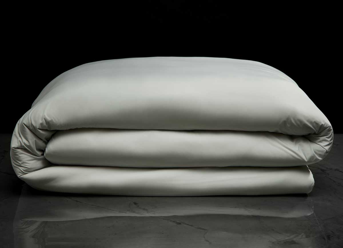 midnight label-duvet cover-mist gray-stack