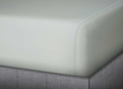 MIDNIGHT LABEL Fitted Sheet shown in mist gray #choose-your-color_mist-gray