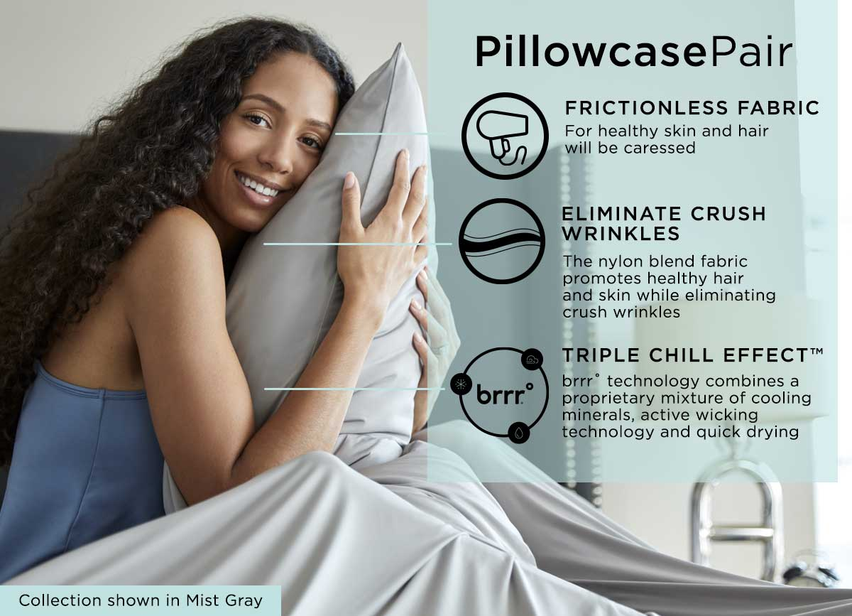 infographic of midnight label pillowcase #choose-your-color_mist-gray