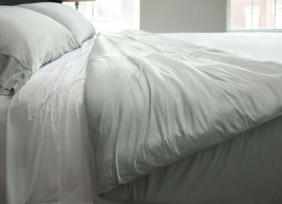 midnight label-duvet cover-mist gray-bed