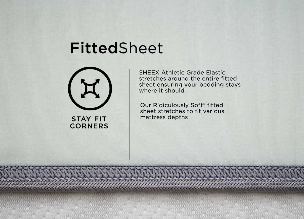 infographic of MIDNIGHT LABEL Fitted Sheet #choose-your-color_mist-gray