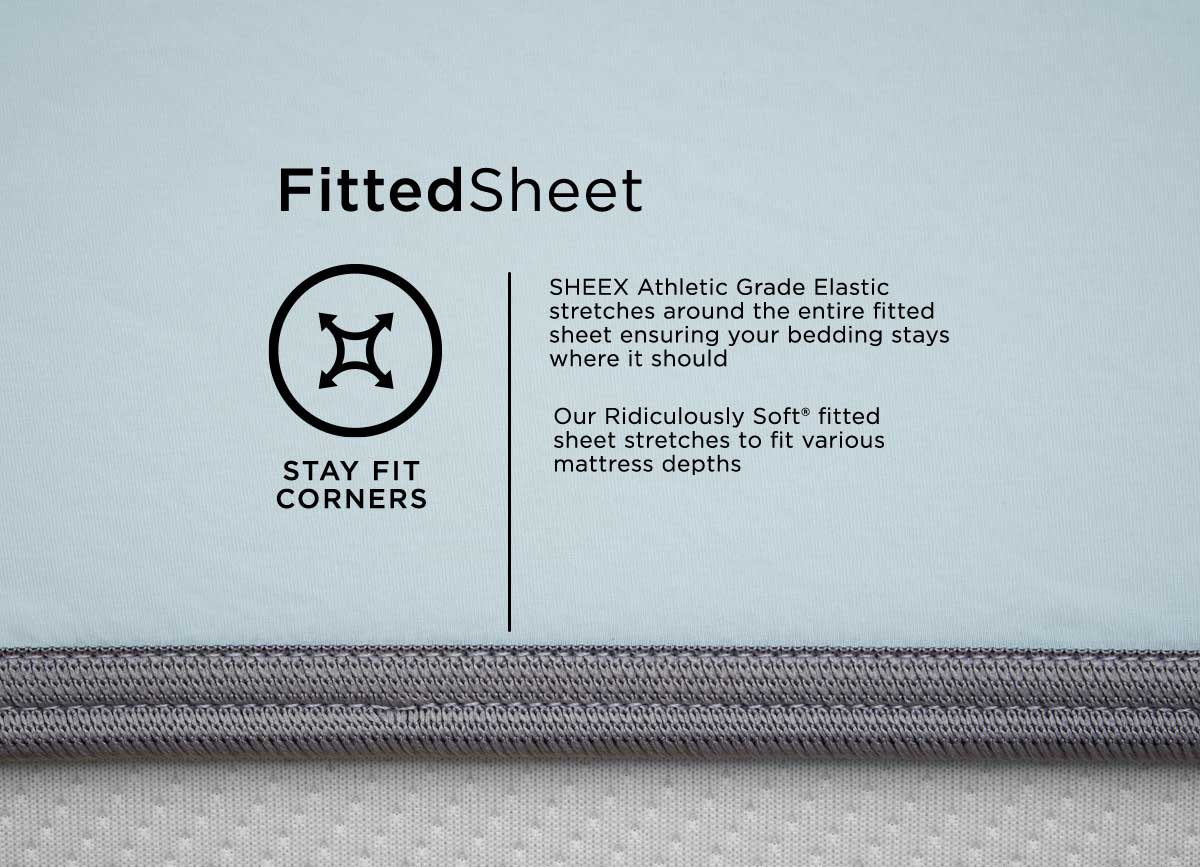 infographic of MIDNIGHT LABEL Fitted Sheet #choose-your-color_spa-blue