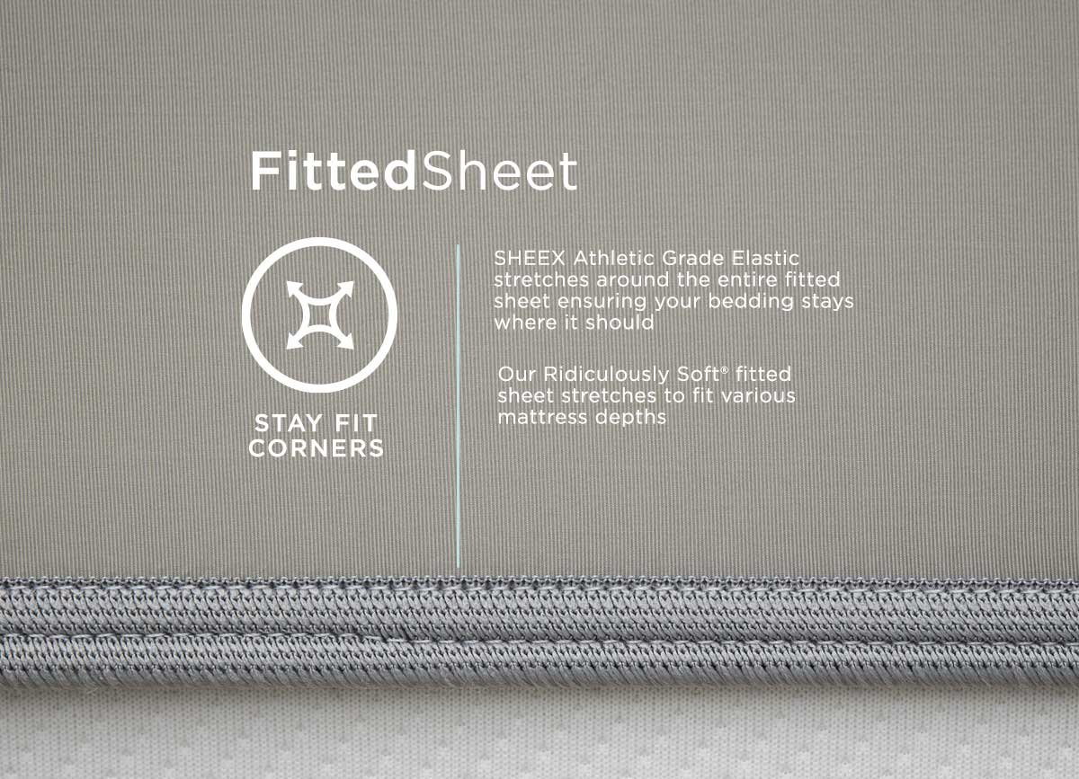 infographic of MIDNIGHT LABEL Fitted Sheet #choose-your-color_stone