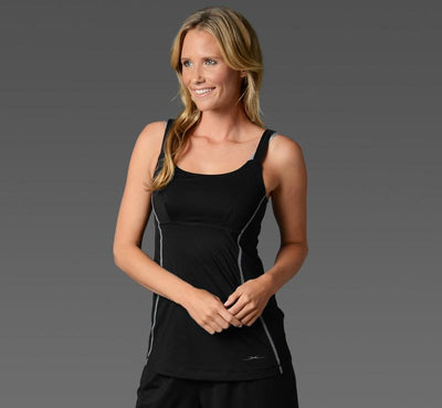 Women's Cami with inner bra black front