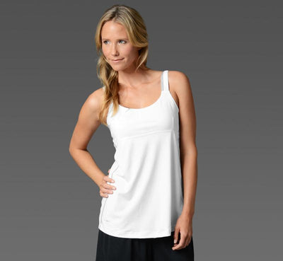 Women's Cami with inner bra white front