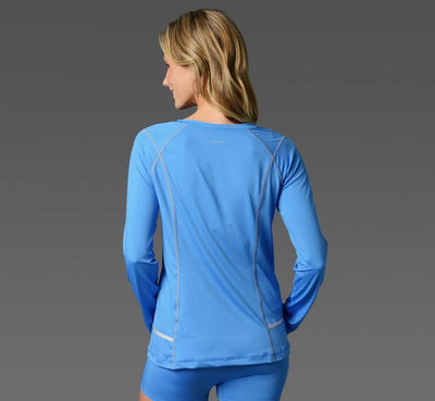 Women's Long Sleeve Tee light-blue back