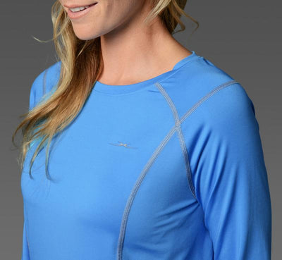 Women's Long Sleeve Tee light-blue detail