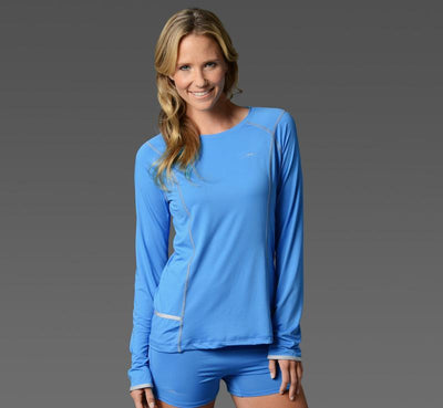 Women's Long Sleeve Tee light-blue front